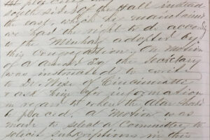 minutes mentioning R. Isaac Mayer Wise-March 3 1867